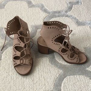 Like NEW Lace Up Block Heels